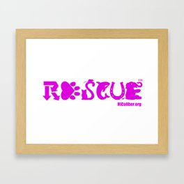 Rescue Hot Pink Framed Art Print