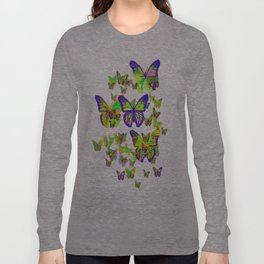 Monarch Butterflies Spring Melodies Abstract Long Sleeve T-shirt