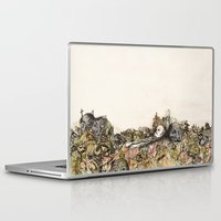 soviet Laptop & iPad Skins featuring Soviet Monuments by Jess Worby