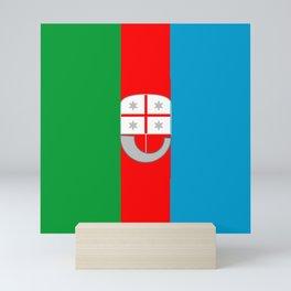 flag of liguria Mini Art Print