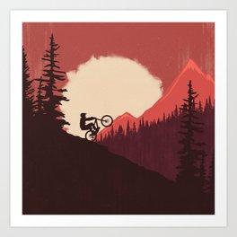 Trails Colors Art Print