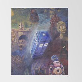 """""""13 in 50"""" a Tribute to Doctor Who Throw Blanket"""