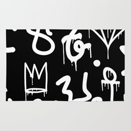 Crowns, Diamonds & Graffiti Rug