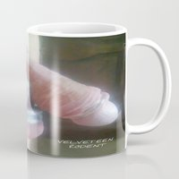 penis Mugs featuring funny painting sex fuck dick cock chastity bdsm fetish ring cage penis suck oral blowjob by Velveteen Rodent
