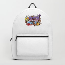 Hiphop Dancer Graffiti Artist Typography 27th Birthday Hip Hop Urban Wall Mural Street Art Backpack