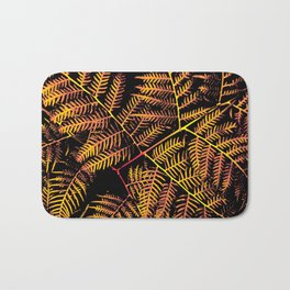 Peachy Yellow Bracken Bath Mat