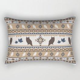 Boho animals   Autumn owl tan Rectangular Pillow