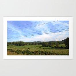 Mountians Art Print