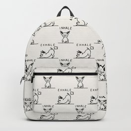 Inhale Exhale Chihuahua Backpack