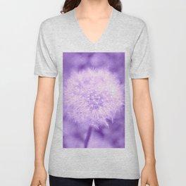 Sweet Dandelion in Lavender Unisex V-Neck