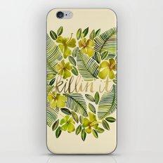 Killin' It – Tropical Yellow iPhone Skin