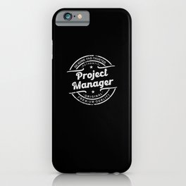 Best Project Manager retro vintage distressed logo iPhone Case