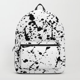 Splat Black on White Backpack