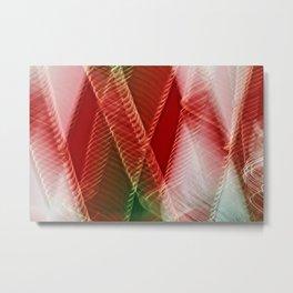 Abstract Holiday Plaid Metal Print