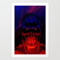 Terminator Headshot Art Print
