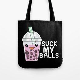 Boba Tea Suck My Balls Bubble-Tea T-Shirt & Gift Tote Bag
