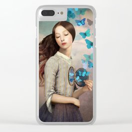 Set Your Heart Free Clear iPhone Case