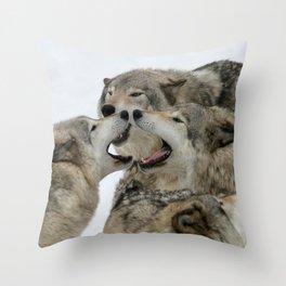 Shouting Match Throw Pillow