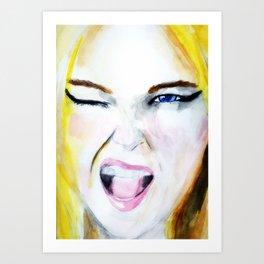 Wink! Art Print