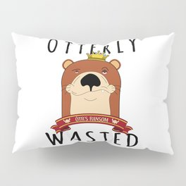 Otter Otterly Wasted Marten Wine Beer Drinking Team Mammal Pillow Sham