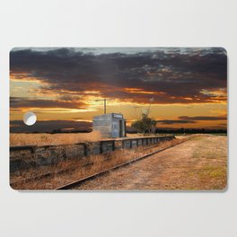 Sunset at the Coonawarra Rail Station Cutting Board
