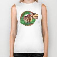 leopard Biker Tanks featuring leopard by Elena Trupak