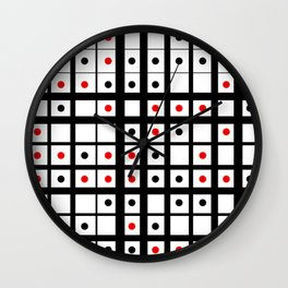 Dots in a grid Wall Clock