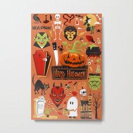 Happy Halloween Poster Metal Print