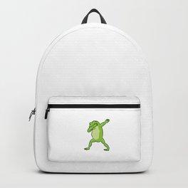 Cute Dabbing Frog Funny Frog Dab Funny Frog Backpack