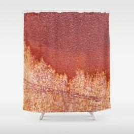 Bleeding Rusty Grunge Texture Shower Curtain
