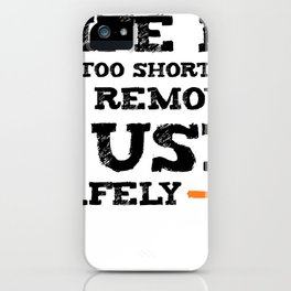 Life is too short to remove USB safely | For Nerds iPhone Case