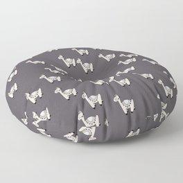Cute little baby Llama alpaca illustration pattern neutral nursery gray Floor Pillow