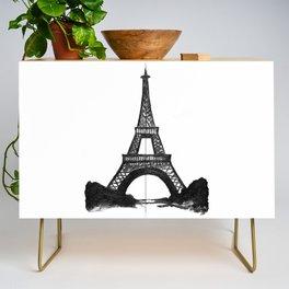 Eiffel Tower in Black Credenza