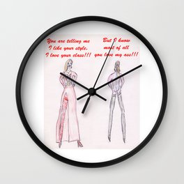Sensual explanation of relationship Wall Clock