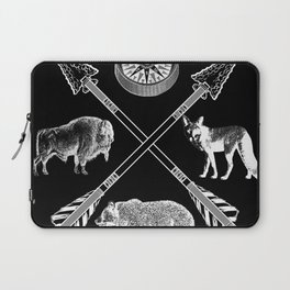 Crossed Arrows Bison Fox And Bear Wildlife Laptop Sleeve