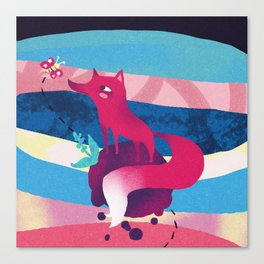 Pink Space Fox The Little Prince Canvas Print