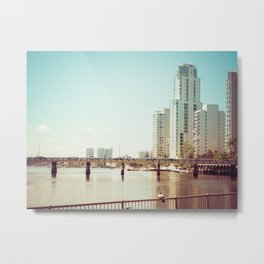 Nerang River Bridge Metal Print