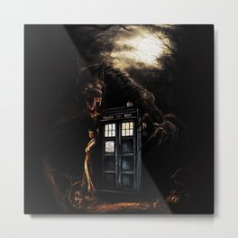 Bad Wolf Tardis Metal Print