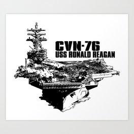 CVN-76 Ronald Reagan Art Print