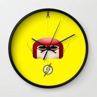 flash Wall Clocks featuring Flash by Oblivion Creative