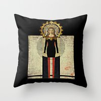 madonna Throw Pillows featuring Renaissance Madonna by Studio Judith