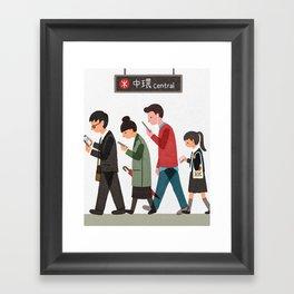Central Station, Hong Kong Framed Art Print