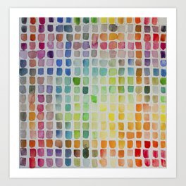 Color Scales Art Print