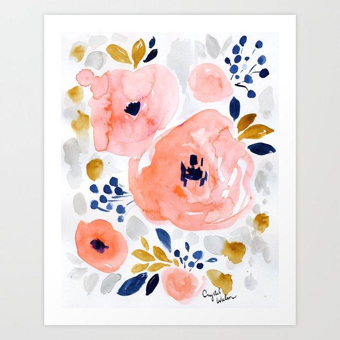Genevieve Floral Kunstdrucke