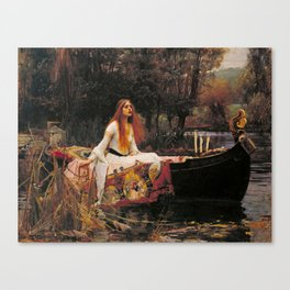The Lady of Shallot - John William Waterhouse Canvas Print