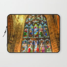 Cathedral Stained Glass Window Laptop Sleeve