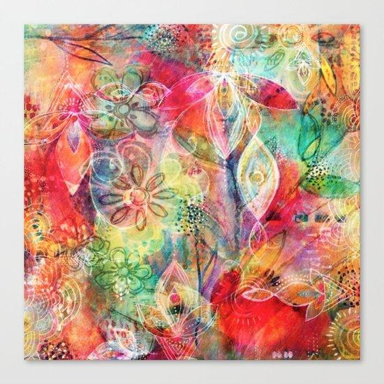 Summer Floral Dreams Canvas Print