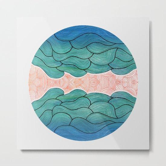 Ocean Flow Metal Print