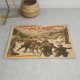 Vintage poster - Heart of the Klondike Rug