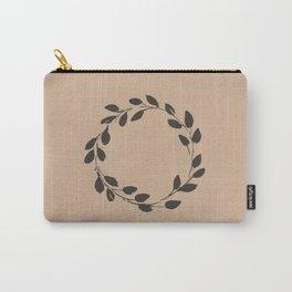 Simple Wreath on Hazelnut Carry-All Pouch